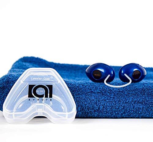 Premium Solarium Schutzbrille von Avaura mit verbessertem Konzept [2020] - inklusive Aufbewahrungsbox - Perfektes Sonnenbaden ohne Bräunungsstreifen - Geprüfte Uv Brille gemäß EN170